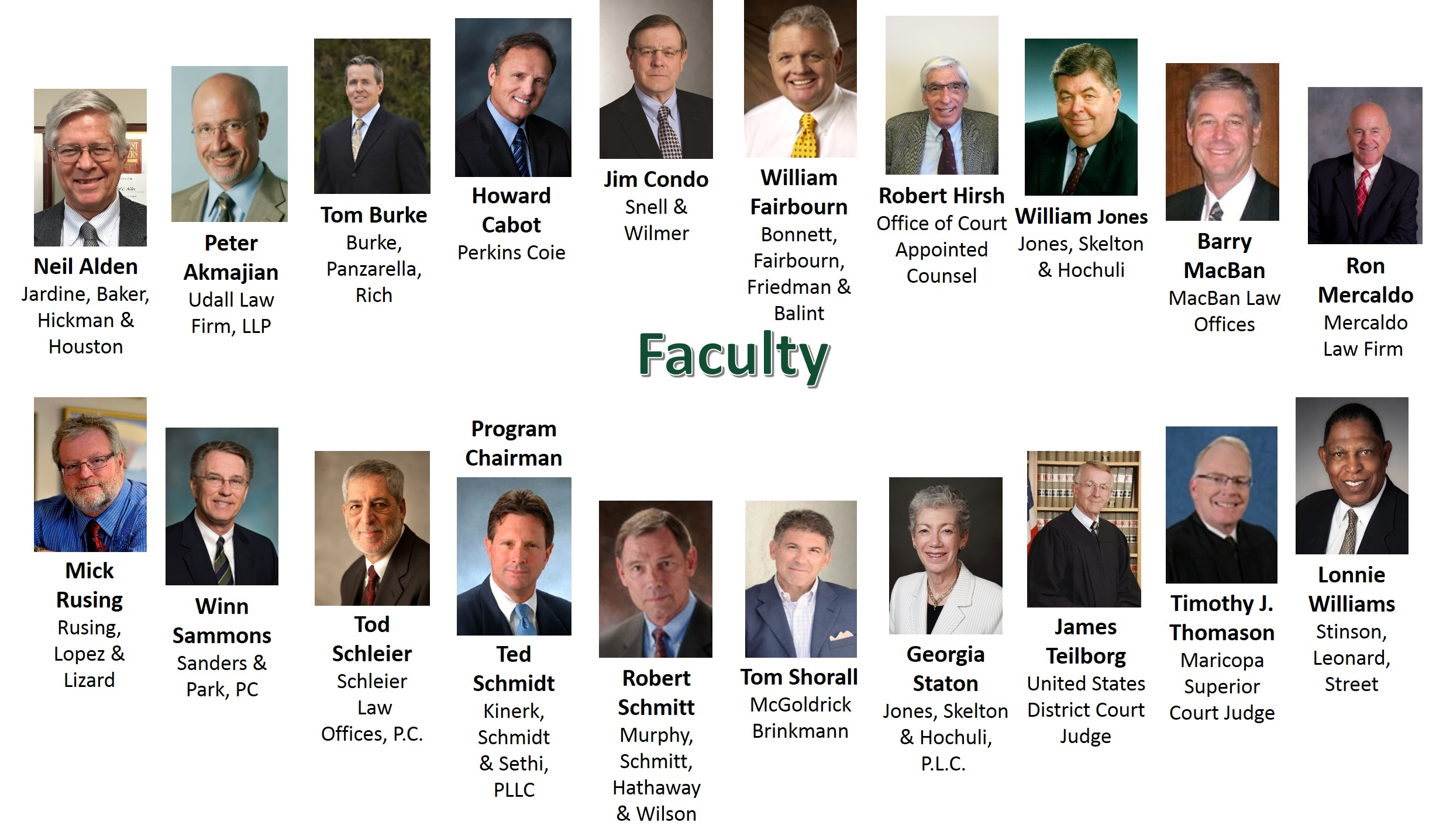 Faculty for website